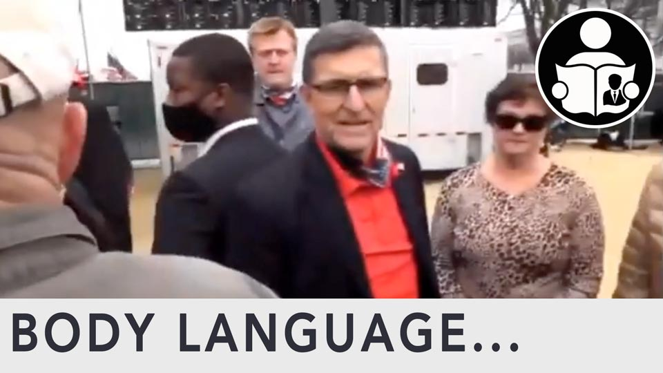 Body Language - Alex Jones meets General Michael Flynn
