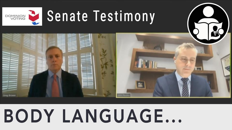 Body Language - Dominion Voting CEO Testimony & The Memory Cards