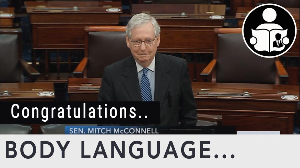 Body Language - Sen. Mitch McConnell Congratulates President-elect Joe Biden