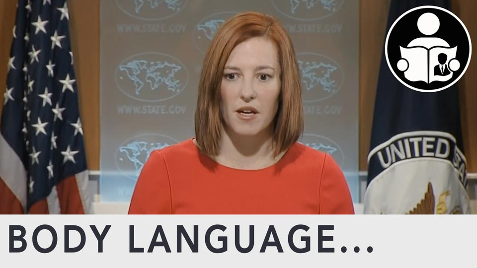 Body Language - Psaki Hot Mic Egypt Statement
