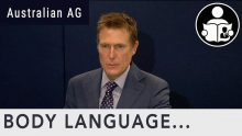 Body Language – Christian Porter, Attorney-General of Australia