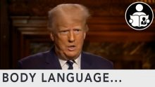 Body Language – Trump taking vax