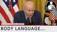 Body Language – Biden driven to wispering sweet nothings