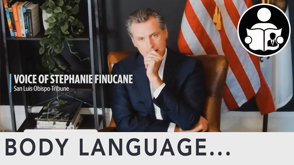 Body Language - Gavin Newsom, White Male Rage