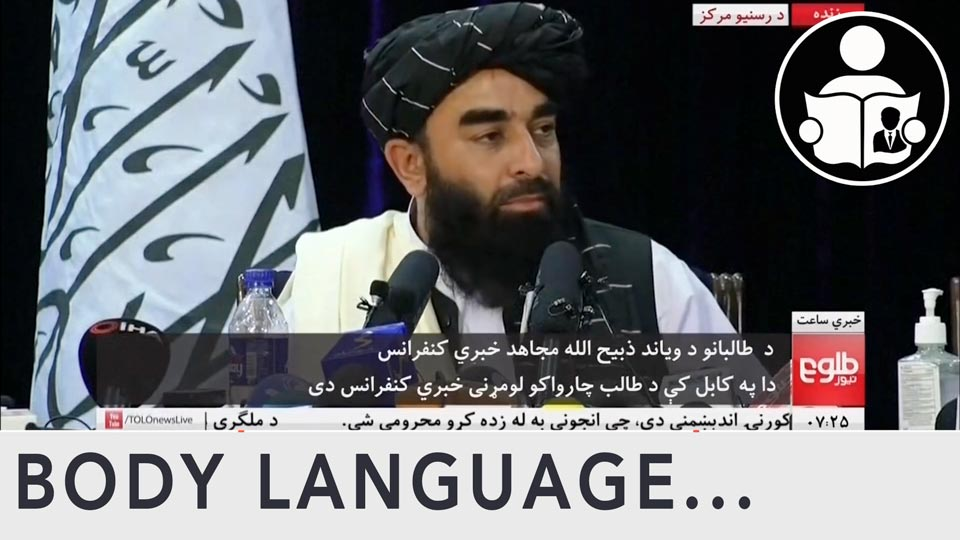 Body Language - Taliban, News conference from Kabul