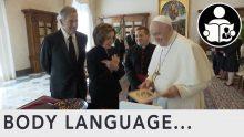 Body Language – Pelosi meets Pope